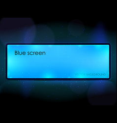 blue billboard vector image