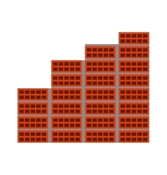 Bricks wall construction icon vector
