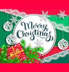 Bright christmas greeting card vector