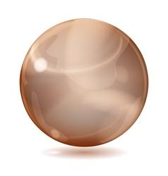Brown opaque sphere vector
