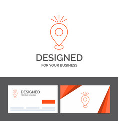 Business logo template for location pin camping vector