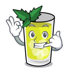 Call me mint julep mascot cartoon vector