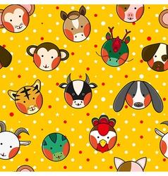 Chinese Zodiac Yellow Gold Polka Dot Background vector