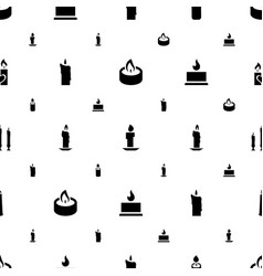 Church icons pattern seamless white background vector