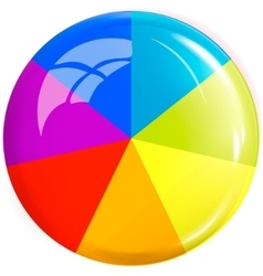 Colored button design element vector image