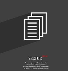 Copy file Duplicate document symbol Flat modern vector