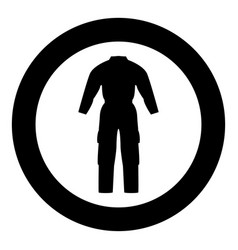 Coverall icon black color in circle vector