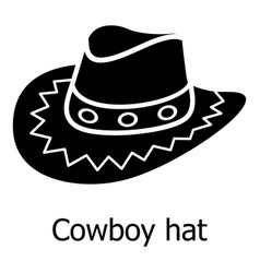 cowboy hat icon simple black style vector image