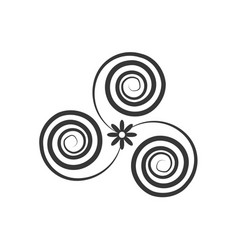 decorate swirl ornate style vector image
