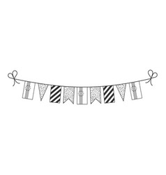 Decorations bunting flags for cape verde national vector