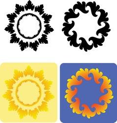 Decorative flowers 3 vector image