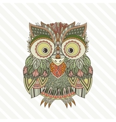 Entangle owl ornate vector