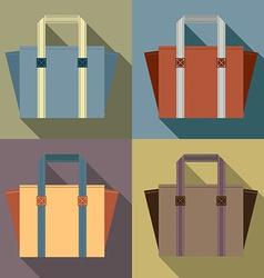 Flat Design Tote Bags vector image