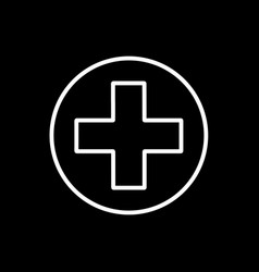 flat line medical cross icon vector image