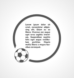 Football symbol and circle vector