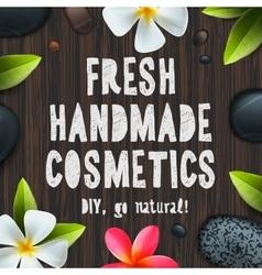 Fresh handmade organic cosmetics vector