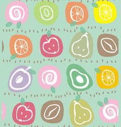 Fruit in ovals vector