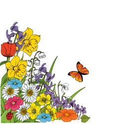 Garden sketch vector