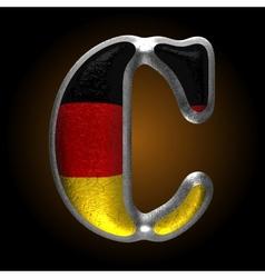 Germany metal figure c vector