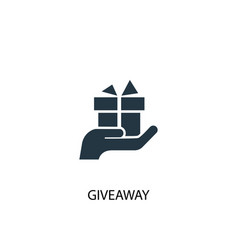 Giveaway icon simple element vector