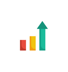 graph growth icon vector image