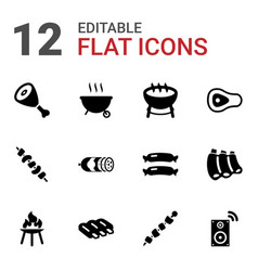 Grill icons vector