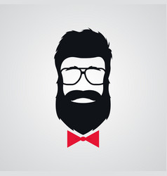 hipster with beard wearing in retro sunglasses vector image