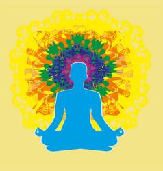 Human energy body aura chakra energy vector