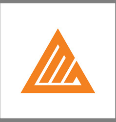 Initials mg triangle logo template vector