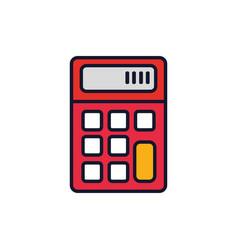 Isolated calculator icon fill design vector