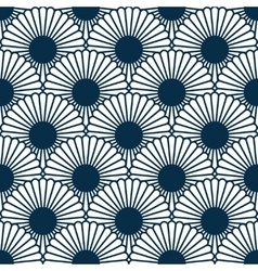 Japanese style chrysanthemum seamles pattern vector