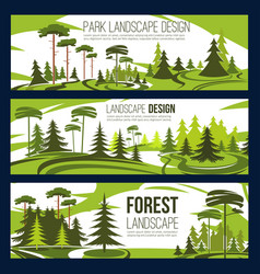 Landscape design park and square vector