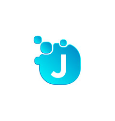 letter j bubble logo template or icon vector image