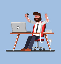 man happy on his work vector image