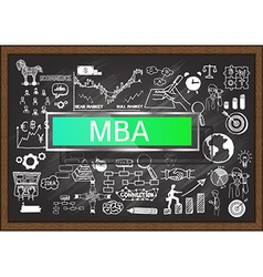 MBA on chalkboard vector image