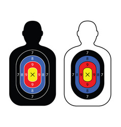 men paper targets vector image