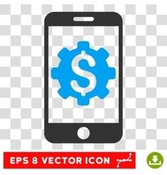 Mobile Bank Setup Eps Icon vector