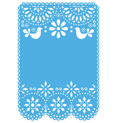 Papel picado wedding invitation or greeting card vector