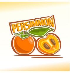 Persimmon still life vector