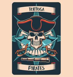 Pirates heraldic poster t-shirt print jolly roger vector