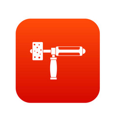 precision grinding machine icon digital red vector image