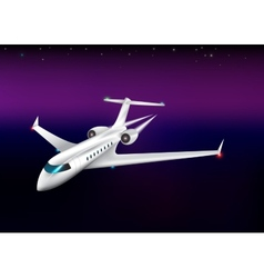 Private plane flying at the nighteps 10 vector