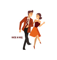 professional dancer couple dancing rock and roll vector image