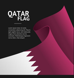 realistic 3d detailed qatar flag banner background vector image