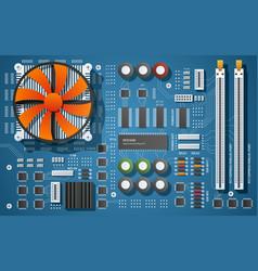 Realistic motherboard vector