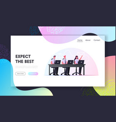 remote business communication internet vector image