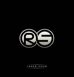 Rs initial letter linked circle capital monogram vector