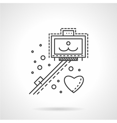 Selfie stick line icon vector image