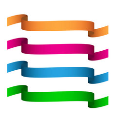 Set colored ribbons vector