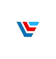 shape line colored design logo vector image